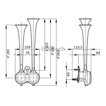 air horn 0328100002 - two tone