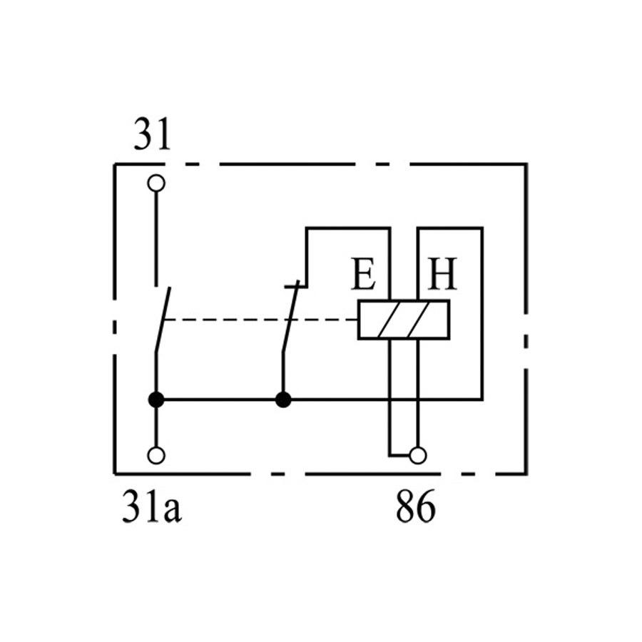 battery relay 0333301009 - single