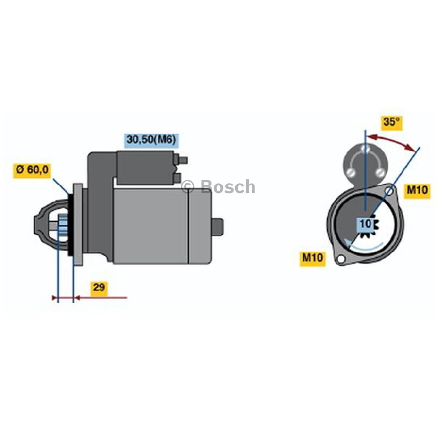 Starter 0001115072 Bosch Auto Shop Chevy 350 Ignition Coil Wiring Diagram 212 Product May Vary Slightly