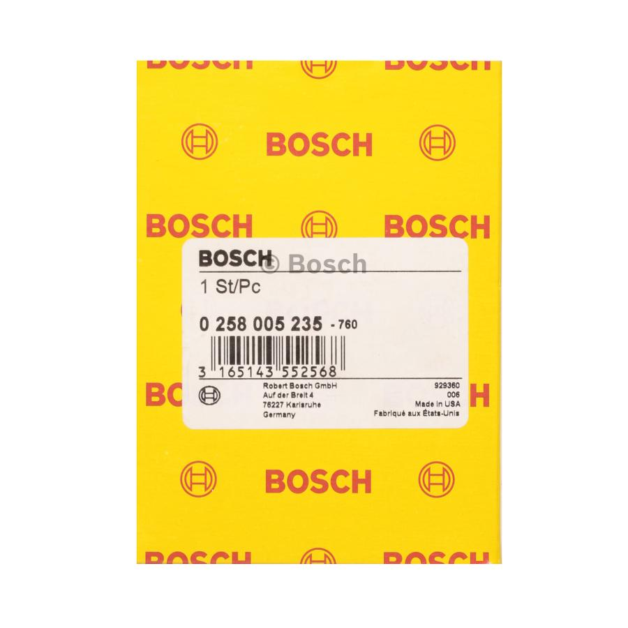 Oxygen Sensor 0258005235 4 Wires Bosch Auto Shop Wiring Product May Vary Slightly
