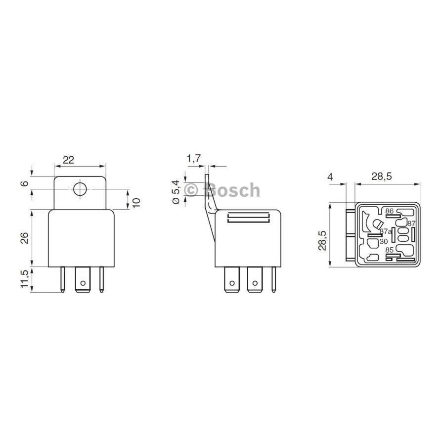 Mini Relay 0332019150 Single Bosch Auto Shop 12 Volt Starter Wiring Diagrams Nissan Product May Vary Slightly