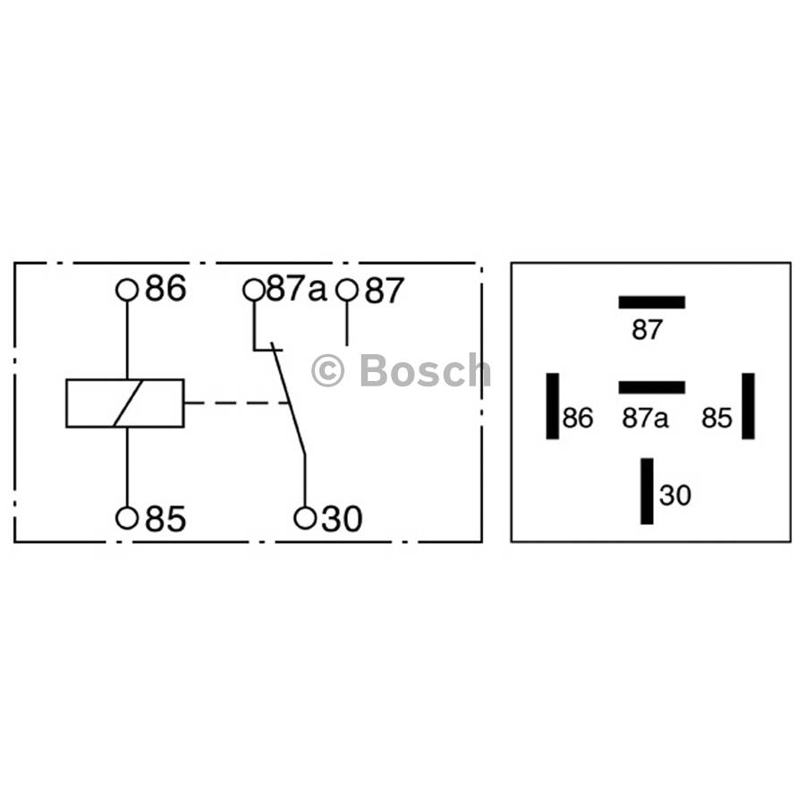 Bosch Mini Relay Wiring Diagram Solutions Single Electric Fan 0332209150 Auto Today