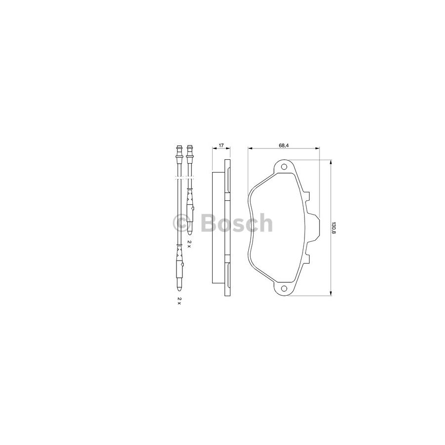 Brake Pad Set Bp519 Bosch Auto Shop Peugeot 605 Injection And Ignition Wiring Diagram Product May Vary Slightly