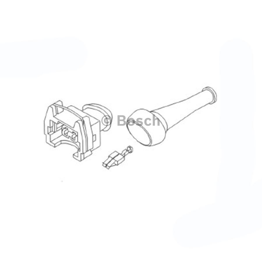 Connector Plug Kit 1287013003 2 Pin Female Bosch Auto Shop Jensen 20 Wiring Harness Product May Vary Slightly
